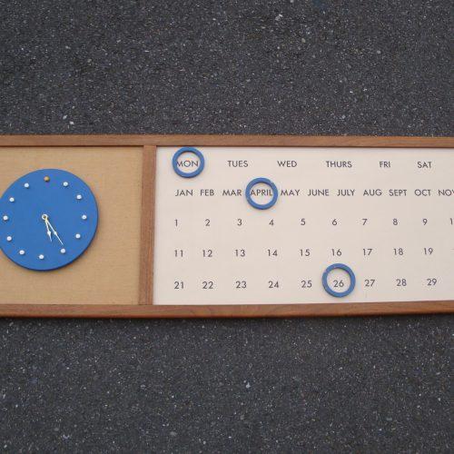 VintageWallCalendar&Clock-1