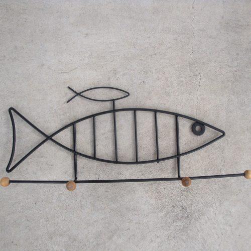 wallhangingironcoatrackhookshangerfish1950s-1