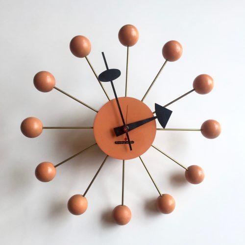 georgenelsonassoclatersballclock#4755orangechronopakuitshermanmiller1950s-1